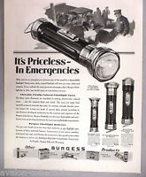 Burgess Flashlight & Battery PRINT AD - 1929 ~~ flashlights