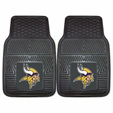 NFL Minnesota Vikings Car Truck 2 Front Heavy Duty Rubber Vinyl Floor Mats