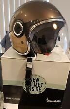 Vespa VJ Helmet - Brown & Beige Vespa Helmet With Tinted Visor - Size XS
