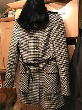 Women's Karen Millen Houndstooth Coat Size 12