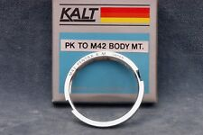 OLD SCHOOL KALT PK TO M42 BODY MT ADAPTER, NOS - FREE USA SHIPPING