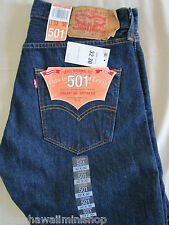 JEANS Levis Strauss ORIGINAL FIT BUTTON-FLY Colour: Rinse 501-0115 Size 32x30