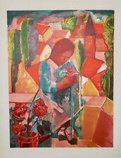 Sandra JAYAT - Lithographie originale - La femme du village