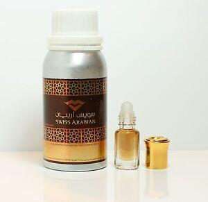 Black Afgano Concentrated Perfume Oil Attar by Swiss Arabian 3ml,6ml,12ml, 36ml