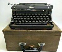 Vintage Portable Royal Companion Black Typewriter With Case CD-157731 WORKS