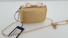 Ladies Ted Baker crystal studded hardcase clutch, gold, BNWT.Christmas/New Years