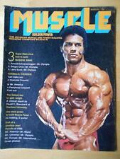 MUSCLE BUILDER bodybuilding magazine/RICK WAYNE/ Arnold Schwarzenegger 3-71