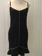 CHRISTIAN DIOR BLACK SLIP DRESS France 36 SMALL 2-4