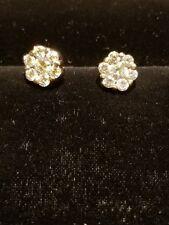 "14k White Gold ""I Love You 7 Days a Week"" Diamond Earrings"