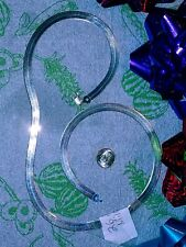 Milor 26 Inch Sterling Silver Herringbone Necklace Magnet Test Fail rho. plate?