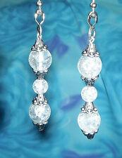 Set of Two ~ Beautiful Elegant Clear Crystal Bead ~ Custom Ceiling Fan Pulls