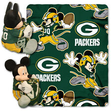 Green Bay Packers Mickey Plush and Fleece Blanket