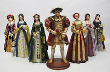 NIB Set King Henry VIII 6 Wives Boleyn Parr Cleves Seymour Howard Aragon Figures