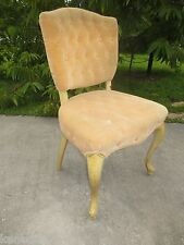 Cute Tufted French Chair Side Victorian Queen Anne Provincial Country Louis XVII
