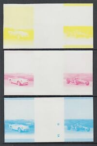 St.Vincent Grenadines Sc 442/451 MNH.1985 Autos, Progressive Proof Gutter Pairs
