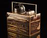 Japanese Antique Lacquer Makie Tobacco Tray Small Chest of Drawers Edo Bakumatsu