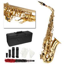 New Student Superior Alto Eb Golden Saxophone  Paint Gold + Case & Accessories