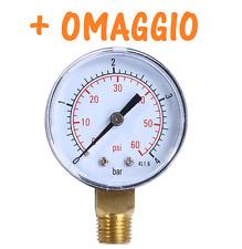 """MANOMETRO PISCINA filtro sabbia 1/4"""",manometro pressione FILTRO A SABBIA PISCINA"""