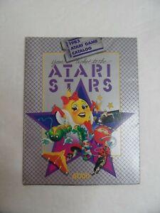 1983 ATARI STARS FOLD OUT PROMO POSTER VIDEO GAME CATALOG ATARI 2600 5200