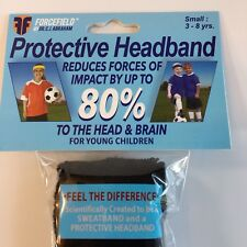 Forcefield - Soccer Protective Headband Impact Reduction Black Small -2 Pack