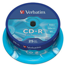 Verbatim CD-r 52 x 700MB 25-Pack broche