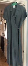 Vintage Laura Ashley Slate Blue Green Dress Size 18