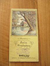 alte Shell Straßenkarte Nr.8 Berlin Brandenburg um 1935