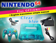This is a very rare color! [You can play immediately!] NINTENDO 64/Clear blue