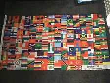 Large Official London 2012 Olympic Flag Banner- With All Country Flags Rare