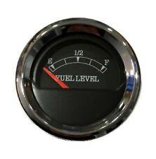 "Fuel level Gauge, 2""/52mm, black/chrome, blue LED, 0-90 ohms, 043-F-BC-90"