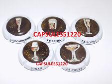 """SERIE 5 CAPSULES DE CHAMPAGNE - GENERIQUE """"Coupes"""""""