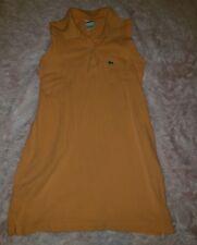LACOSTE Womens Orange Tennis Sleeveless Polo Dress Size 7 EUC