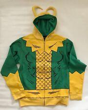 BNWT Marvel Loki Cosplay Zip Up Adult Unisex Hoodie Jacket Sz L