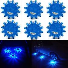 6xBlue LED Road  Warning Halo Safety Flare By Boundery Magnetic Base 9 patterns