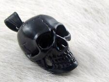 Cráneo de Acero Inoxidable Black Skull Colgante para Cadena Negro Death Head