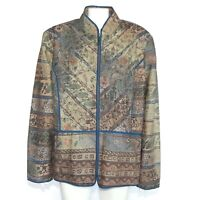 NWT COLDWATER CREEK Beautiful Patchwork Embroidery Jacket size 24 / 932