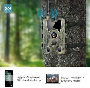 Trail Camera 2G MMS SMTP 20MP 1080P Infrared Wireless Night Vision Wildlife Cam