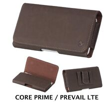 Samsung Galaxy CORE Prime G360 - BROWN Pouch Belt Clip Holster Case Phone Holder