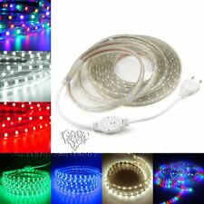 1-20M 5050 LED SMD Flexible Tape Rope Strip Light Xmas Outdoor Waterproof + Plug