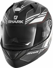 Shark Helm Ridill TIKA MAT mit Sonnenblende schwarz weiß Gr.XS NEU v. BikerWorld