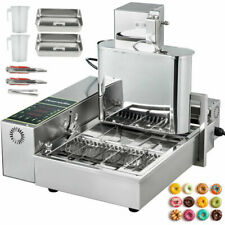 VEVOR QZDTTQJ4P001 4 Rows Automatic Donut Machine - Stainless Steel