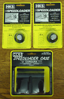 (2)HKS 36-A Speedloaders [5-shot .357/.38] + (1)HKS 100B Nylon Speed-Loader Case