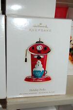 Hallmark 2009 Holiday Perks Coffee Barista Ornament machine Nello