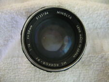 MINOLTA MC ROKKOR PF 58MM F1.4 LENS W.FILTER