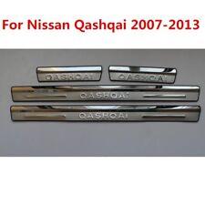 Stainless steel External door sill Scuff Plate For Nissan QASHQAI 2007-2013 4pcs