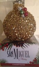 New San Miguel Gold Beaded Holiday Champagne Scented Reed Diffuser Oil Set