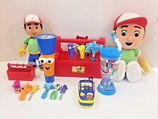 HUGE LOT Handy Manny Talking Tool Box Let's Work Flicker Flashlight Phone Toys