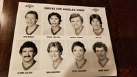 1980-81 LOS ANGELES KINGS TEAM ISSUE 8X10 GLOSSY PHOTO SET DIONNE TAYLOR CROWN