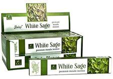 Balaji White Sage  incense Sticks 1 box x 15g Premium Masala Sticks