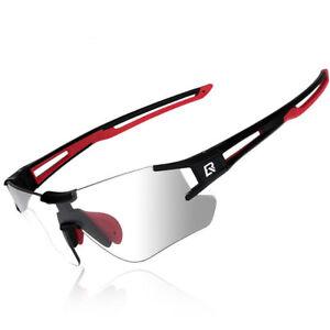ROCKBROS Cycling Photochromatic Sunglasses UV400 Finshing Sports Eyewear Black